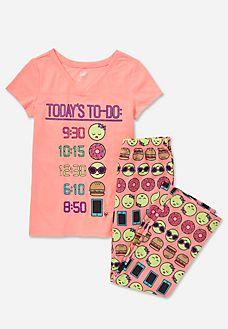 Emoji Pajama Set