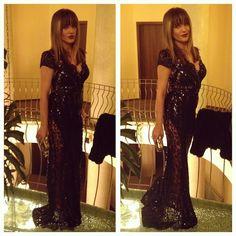 Transparan Siyah Elbise | Nişan Kıyafetleri