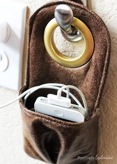Hanging Phone Charger Free Sewing Pattern & Tutorial   Sew ...