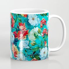 Check out society6curated.com for more! @society6 #floral #flowers #pattern #coffee #morning #cup #food #beverage #college #work #office #gift #Idea #buy #shop #shopping #sale #fun #unique #cool #awesome #sweet #coffeemug