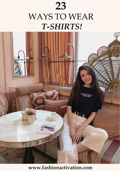 black Mango t-shirt white H&M jeans summer outfit idea outfits style
