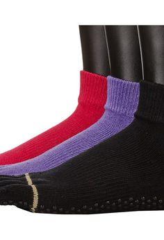 toesox Ankle Full Toe 3-Pack (Black/Fuchsia/Light Purple) Women's Low Cut Socks Shoes - toesox, Ankle Full Toe 3-Pack, S010BFLK, Footwear Socks Low Cut, Low Cut, Socks, Footwear, Shoes, Gift, - Fashion Ideas To Inspire