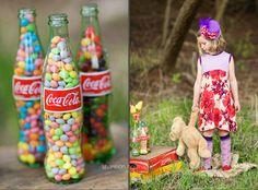 Cute idea with Coke bottles