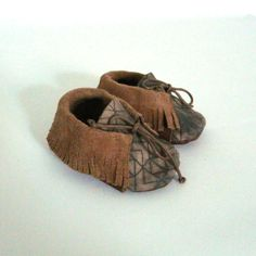 Baby mocassins S.17 36 months beige / khaki by ANAAME on Etsy, €39.00