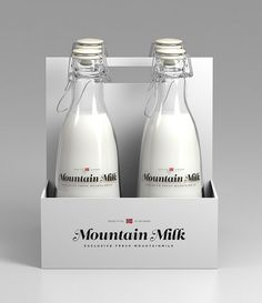Tine Melk - Mountain Milk on Packaging Design Served Milk Packaging, Beverage Packaging, Bottle Packaging, Pretty Packaging, Brand Packaging, Product Packaging, Packaging Ideas, Gfx Design, Graphic Design
