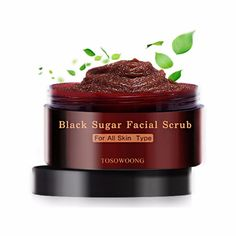 Tosowoong Blackhead Sebum Removal Black Sugar Facial Scrub Mask Pack 160g #Tosowoong
