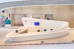 STARON Empfangstresen, design by Zaha Hadid Architects, LC Neue WU Wien, Austria (7)