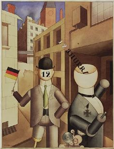 """Republican Automatons"" by George Grosz, 1920."