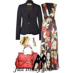 floral maxi dress with blazer - Casual hijab summer wear http://www.justtrendygirls.com/casual-hijab-summer-wear/