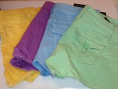Tractr colored shorts.  Available in pale mint, pale blue, orchid, banana and white. Only $45