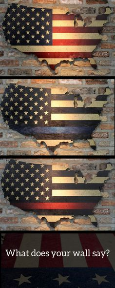 Unique Wall Art 36 by 22 laser cut US map with vintage flag prints Unique Wall Art 36 American Flag Painting, American Flag Wall Art, Wooden American Flag, Art Furniture, Union Jack, Wood Flag, Pallet Flag, Vintage Flag, Unique Vintage