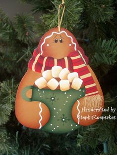 Let's Have Cocoa Gingerbread Ornament