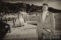 Caribbean Beach weddings, Roatan Island, Honduras, first look