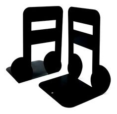 """Black Big 7"""" Pair Music High Note Nonskid Library School Office Home Study Metal #Bellaa #musicnotes"""