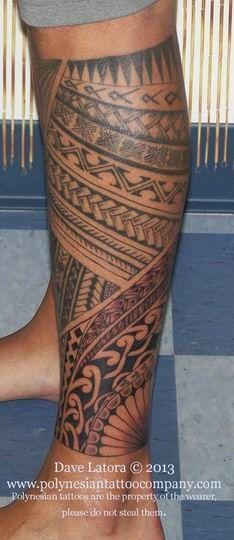 Polynesian tattoo by Dave Latora in Jupiter, Florida