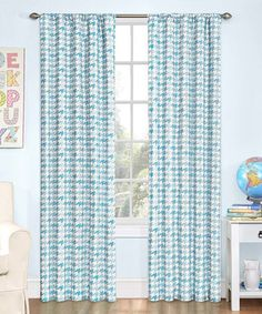 Another great find on #zulily! Cloud Zane Houndstooth Blackout Curtain Panel #zulilyfinds