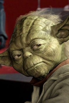 """Yoda - Attack Of The Clones.""""Mmm.  Lost a planet, MAster Obi-Wan has.  How embarrassing."""""""