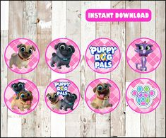 Puppy Dog Pals toppers instant download Puppy Dog Pals | Etsy 3rd Birthday, Birthday Parties, Puppy Party, Girl Decor, Clipart, First Birthdays, Dogs And Puppies, Card Stock, Christmas Cards
