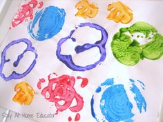 Eight Food And Nutrition Themed Preschool Activities: Fruit and Vegetable Printmaking