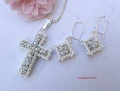 almona Cross Pendant w/matchingish Earrings