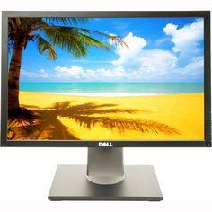 """Dell 1909WF LCD 19"""" Monitor 1440 x 900 VGA DVI USB w/ Adj Stand and DVI CABLE #Dell"""