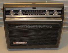 Speaker hidden behind/inside old transitor radio playing oldies