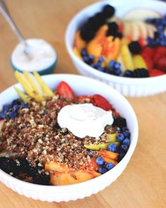 Raw Fruit Crumble with Almond Cream | Spirituality & Health Magazine