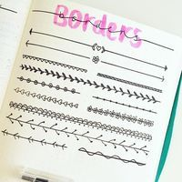 """BREEE on Instagram: """"Started drawing up some borders inspo for bullet journals """""""