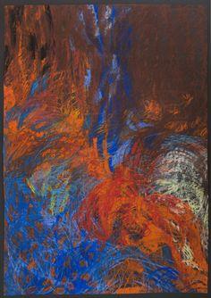 """Agnieszka Kopczyńska-Kardaś, Cykl """"2001r."""", 100x70cm,Tempera, pastele olejne, 2001"""