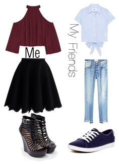 """Lol"" by vmse1997 on Polyvore featuring W118 by Walter Baker, Chicwish, Frame, MM6 Maison Margiela, Keds and JustFab"