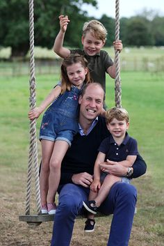 Prince William releases gorgeous new pictures with Princes George, Louis and Princess Charlotte to mark double celebrations | HELLO!