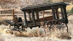 How sad this makes me. I wonder if it is still there. I wonder if it is too late to salvage it? Antique horse drawn hearse rotting away near Virginia City, Nevada. Should be preserved. Abandoned Buildings, Abandoned Places, Abandoned Vehicles, Abandoned Cars, Abandoned Mansions, Post Mortem, Old Wagons, Virginia City, Empire