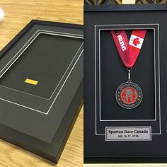 Ready-to-go shadowbox frames for medals