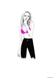 Artist @nelebalke Neon, Illustrations, Ink, Artist, Cards, Fashion, Moda, Fashion Styles, Illustration