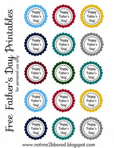 Free Father's Day printable scalloped tags
