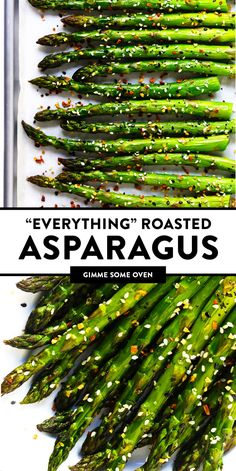 asparagus recipes Kick your roasted asparagus recipe up a notch this season with some everything bagel seasoning! Its super quick and easy to make, naturally vegan and gluten-free, and makes the most delicious healthy side dish. Veggie Side Dishes, Healthy Side Dishes, Healthy Sides, Side Dish Recipes, Food Dishes, Christmas Vegetable Side Dishes, Easy Vegetable Dishes, Thanksgiving Vegetable Sides, Thanksgiving Side Dishes