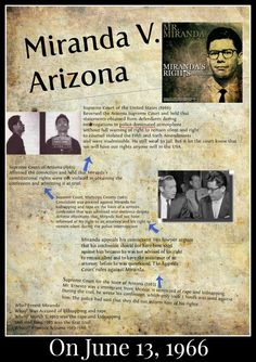 On this day in American History, the United States Supreme Court handed down its decision in the case of Miranda v. Arizona.  To preview our children's history DVD click on pin.