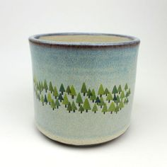 Pinched Pine Forest Cup - JuliaSmithCeramics