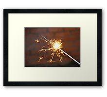 Celebrate With a Sparkler! Framed Print