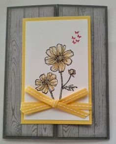 This Gatefold Card was made with the Hardwood, Bloom with Hope, and Make a Cake Stamp Sets from Stampin' Up! You can find out how it was made on my blog at http://www.classycutupscreations.com.