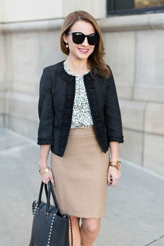 Black & camel work outfit