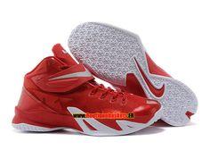 online store c2fa1 9a14a Nike zoom lebron soldier 8 viii ae - chaussure de basket-ball pas cher pour homme  blanc noir-rouge 653642-600. Novos Tênis Jordan, Sapatos Air ...