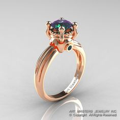 Classic Victorian 14K Rose Gold 1.0 Ct Color by DesignMasters