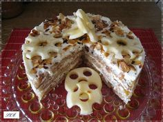 Almás kekszes csoda recept No Bake Treats, My Recipes, Waffles, Food And Drink, Cheese, Baking, Breakfast, Cake, Mascarpone