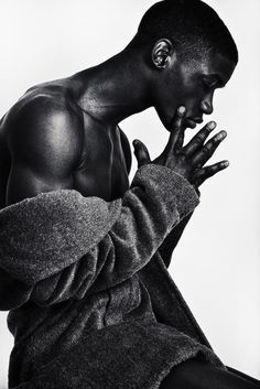 Some Like it Hot — black-boys: Valentine Rontez at IMG Models Black Male Models, Male Models Poses, Male Poses, Portrait Photography Men, Body Photography, Photography Poses For Men, Human Reference, Pose Reference, Drawing Poses Male