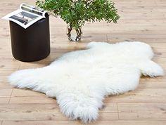 ÖKO SCHAFFELL LAMMFELL ca.115-120x60-70x8cm NATURFELL SHEEPSKIN DEKOFELL NEU