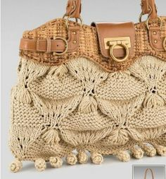 #Knitting #Tutorial showing this interesting knit stitch and how to make the #bag.