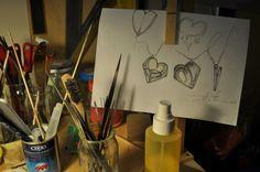 Studio per pendente cuore - creazione personalizzata