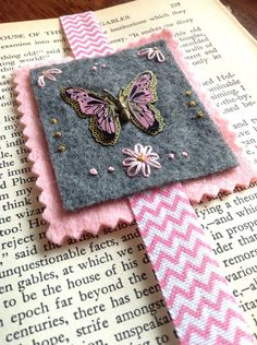 Butterfly Bookmark on Etsy, $10.50