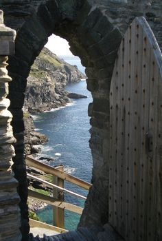 Stairway to the sea at Tintagel Castle in Cornwall, England • photo: archangeldeb on Flickr